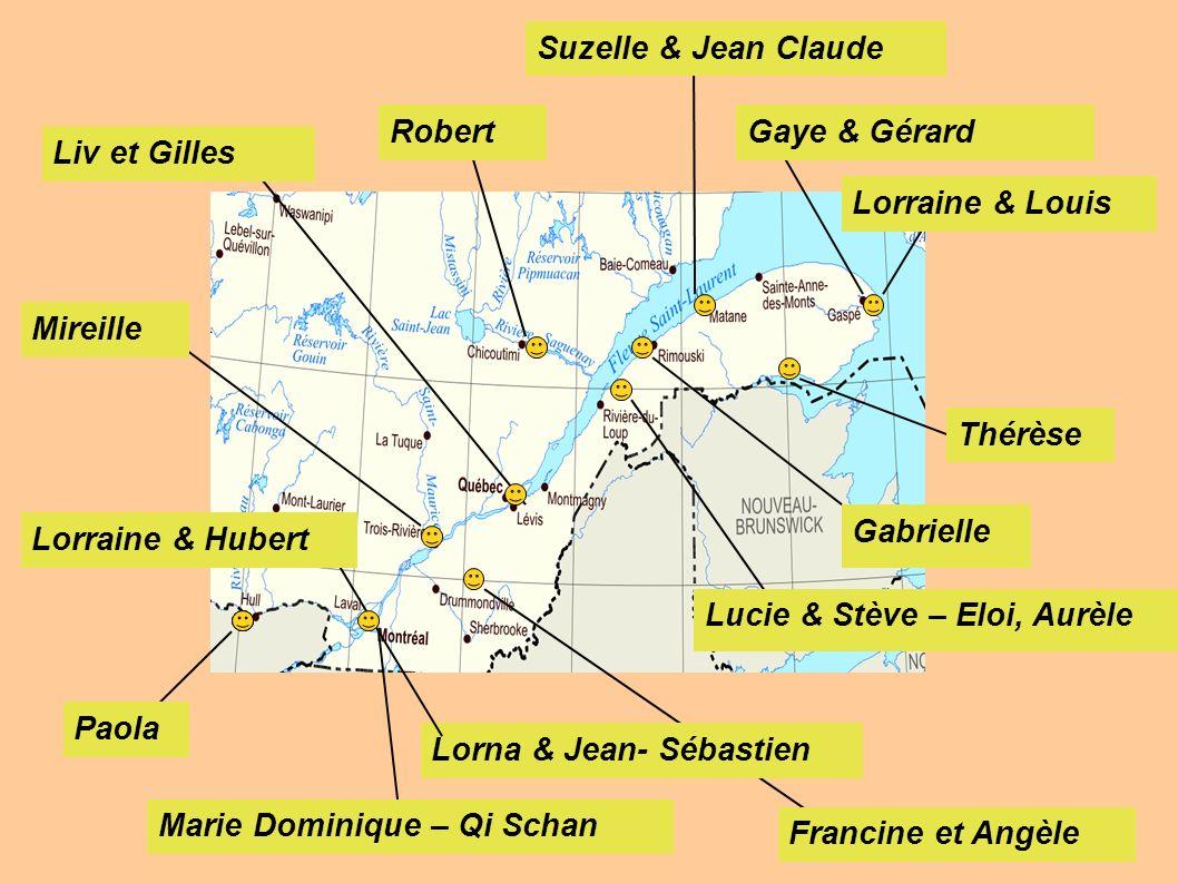 Lorraine & Hubert Mireille Liv et Gilles Robert Suzelle & Jean Claude Gaye & Gérard Lorraine & Louis Thérèse Lucie & Stève – Eloi, Aurèle Lorna & Jean