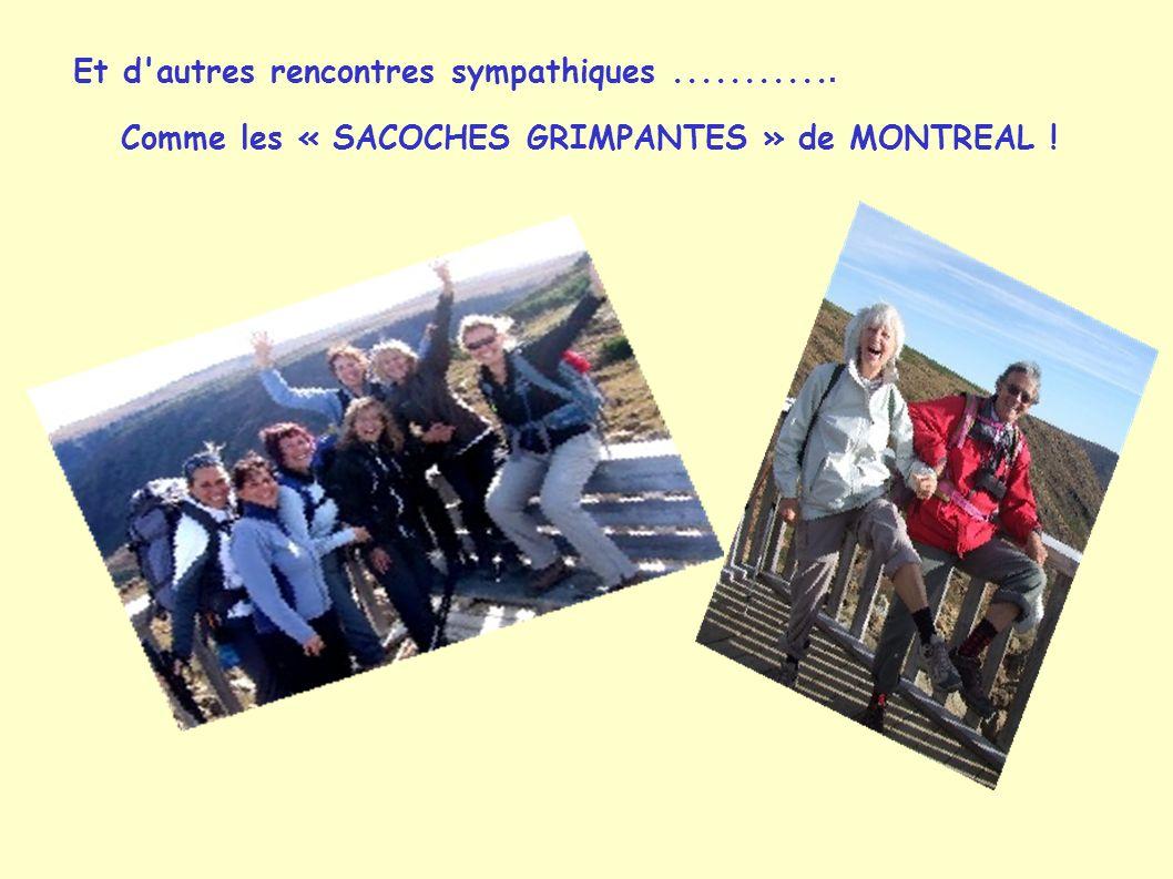Et d'autres rencontres sympathiques............ Comme les « SACOCHES GRIMPANTES » de MONTREAL !