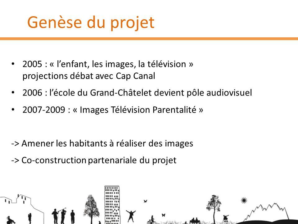 Genèse du projet 2005 : « lenfant, les images, la télévision » projections débat avec Cap Canal 2006 : lécole du Grand-Châtelet devient pôle audiovisu