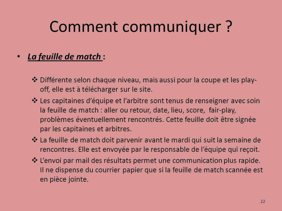 Comment communiquer .