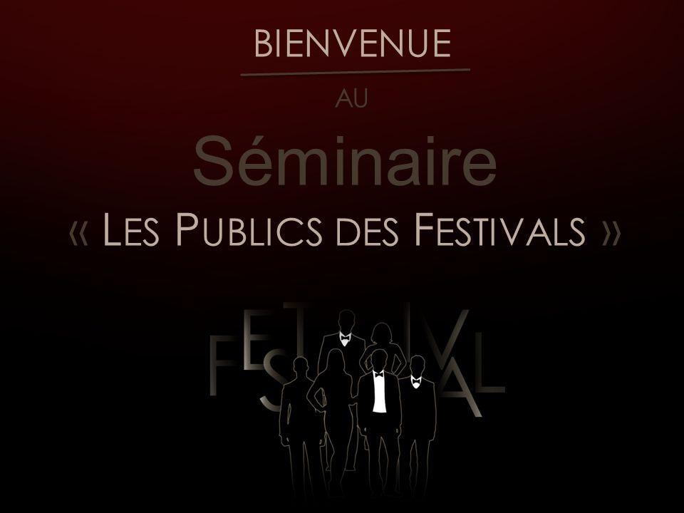 H ISTORIQUE & P UBLICS DES FESTIVALS DE CINEMA EN FRANCE Plus de 50 festivals membres de «Carrefour des festivals » Environ 1 festival par semaine en France Diversité festivalière en matière de cinéma
