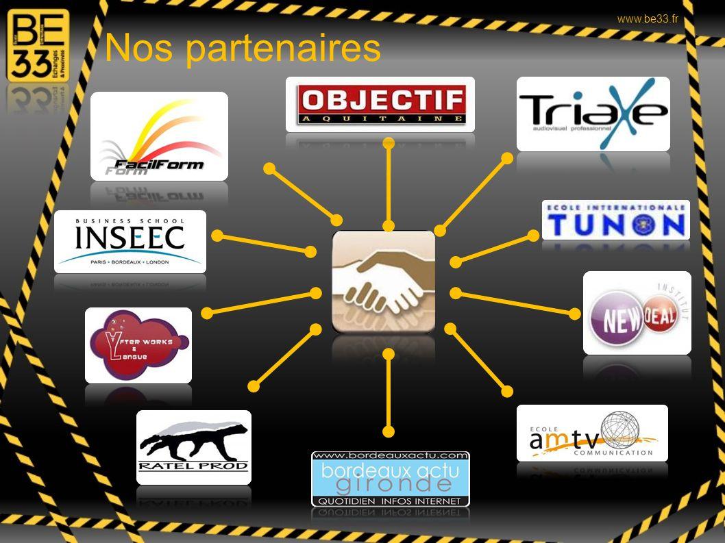Nos partenaires www.be33.fr