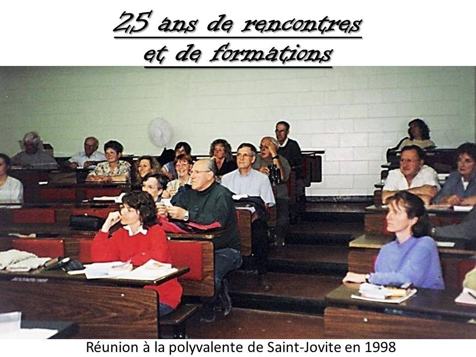 Réunion à la polyvalente de Saint-Jovite en 1998 25 ans de rencontres et de formations