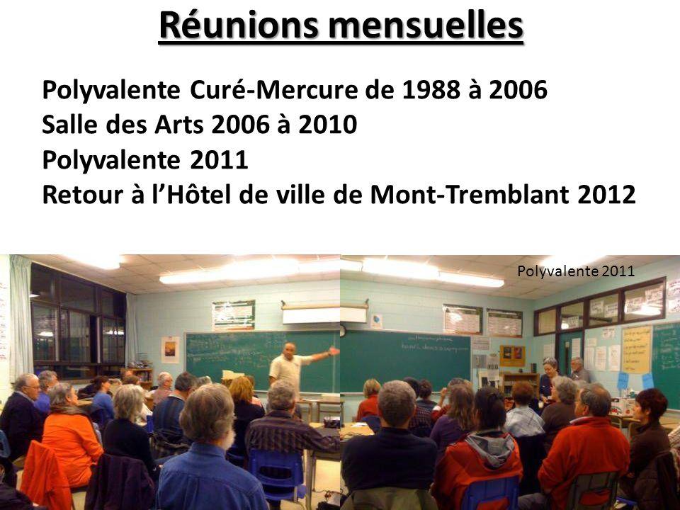 Polyvalente 2011 Polyvalente Curé-Mercure de 1988 à 2006 Salle des Arts 2006 à 2010 Polyvalente 2011 Retour à lHôtel de ville de Mont-Tremblant 2012 R