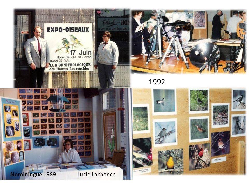1992 Nominingue 1989 Lucie Lachance
