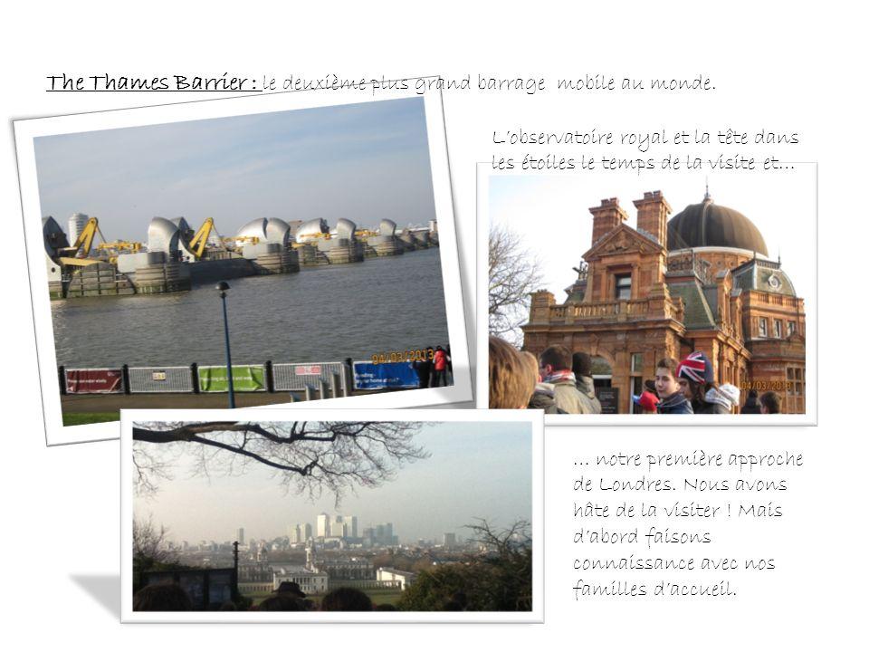 The Thames Barrier : le deuxième plus grand barrage mobile au monde.