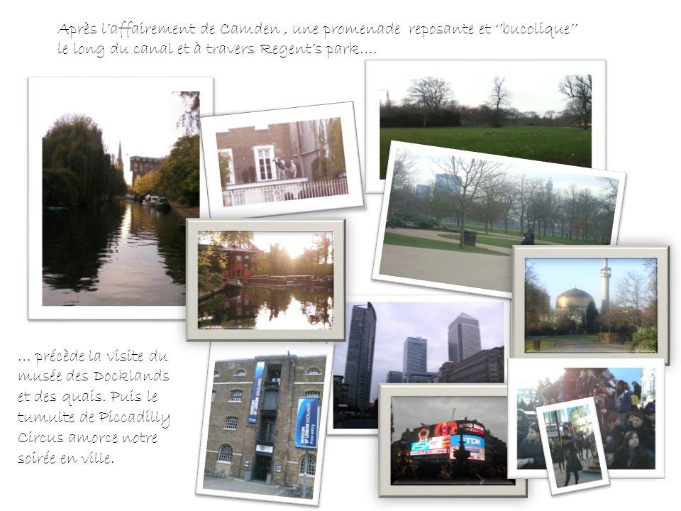 Après laffairement de Camden, une promenade reposante et bucolique le long du canal et à travers Regents park….