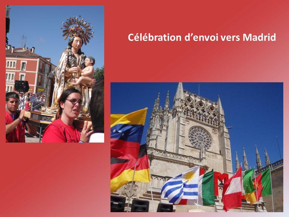 Célébration denvoi vers Madrid
