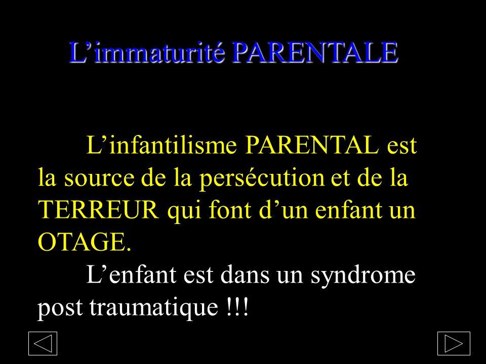 Limmaturité Les traumatismes affectifs précoces bloquent le mode de penser dans le BINAIRE dans la loi du TOUT ou RIEN infantile. Le doute se résume à