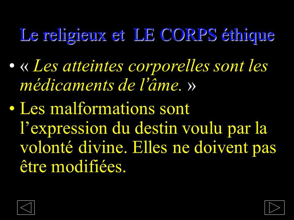 Interprétation : LE CORPS éthique