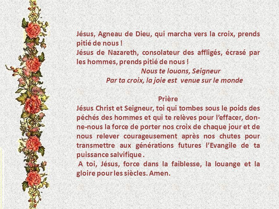 VII JESUS TOMBE POUR LA DEUXIEME FOIS Je suis lhomme qui a connu la misère, sous la verge de sa fureur. C est moi quil a conduit et fait marcher dans