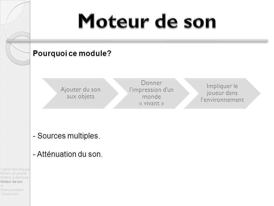 Pourquoi ce module.- Sources multiples. - Atténuation du son.