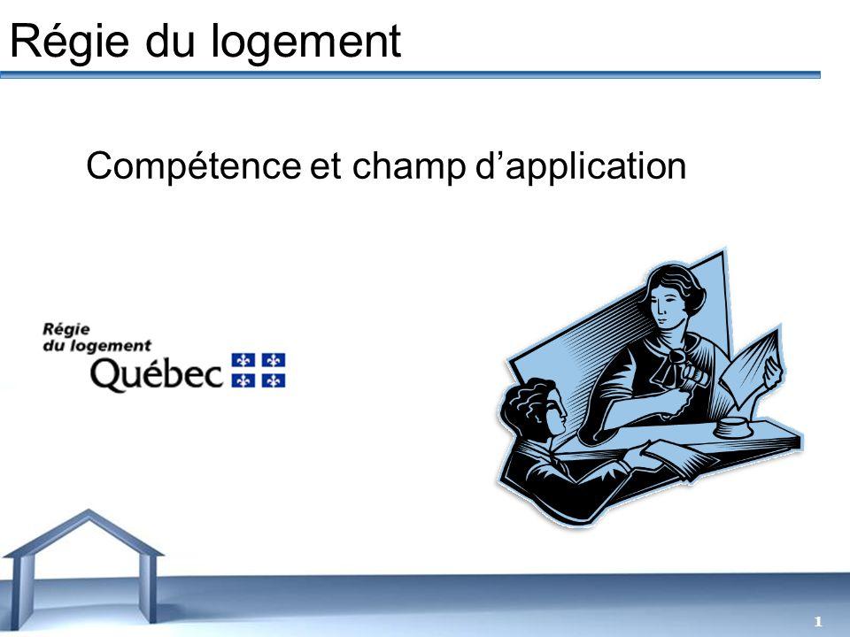 Free Powerpoint Templates 1 Régie du logement Compétence et champ dapplication
