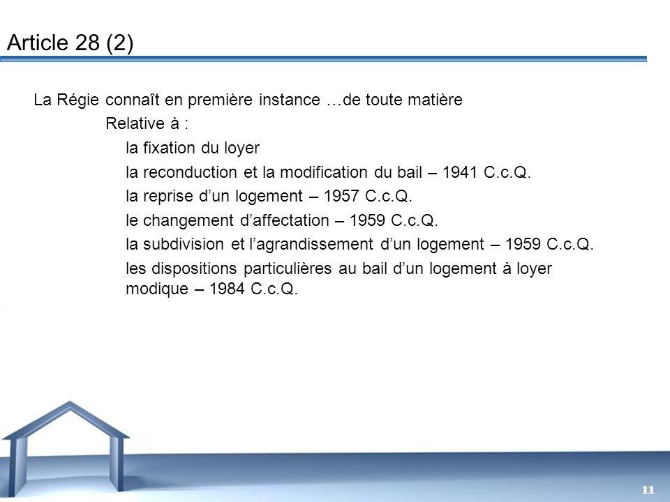 Free Powerpoint Templates 11 La Régie connaît en première instance …de toute matière Relative à : la fixation du loyer la reconduction et la modificat