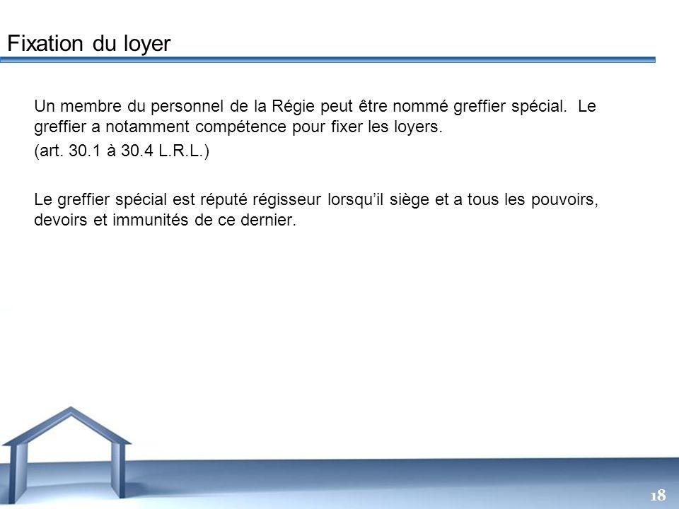 Free Powerpoint Templates 18 Un membre du personnel de la Régie peut être nommé greffier spécial. Le greffier a notamment compétence pour fixer les lo