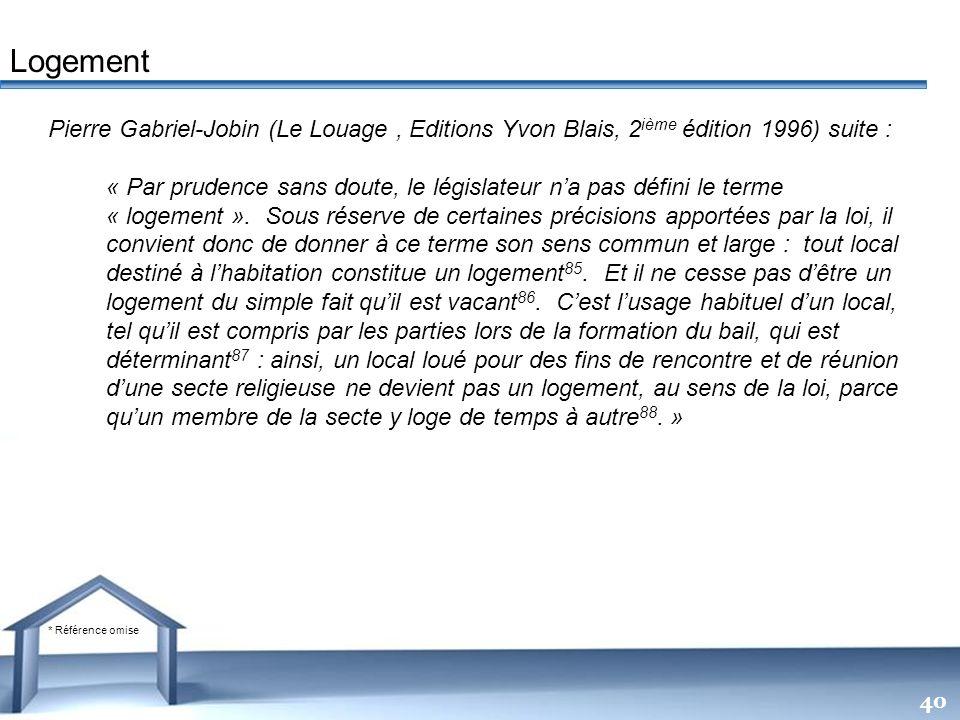 Free Powerpoint Templates 40 Pierre Gabriel-Jobin (Le Louage, Editions Yvon Blais, 2 ième édition 1996) suite : « Par prudence sans doute, le législat