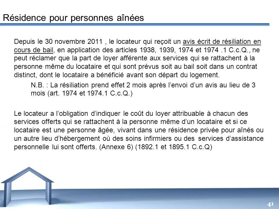 Free Powerpoint Templates 41 Depuis le 30 novembre 2011, le locateur qui reçoit un avis écrit de résiliation en cours de bail, en application des arti