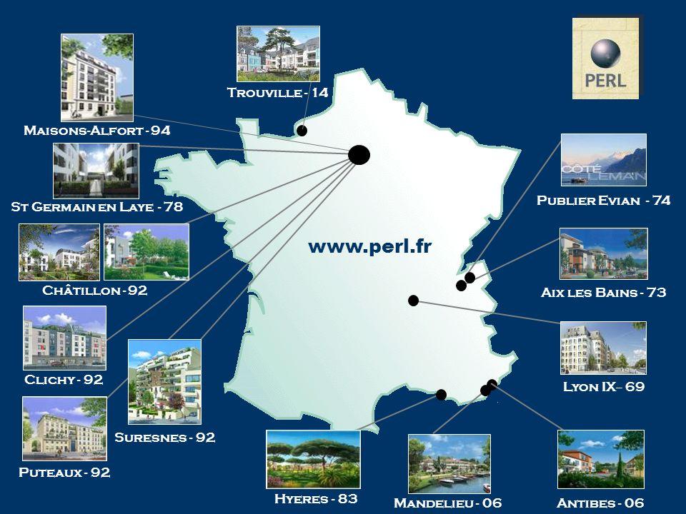 Lyon IX – 69 Hyeres - 83 Aix les Bains - 73 St Germain en Laye - 78 Publier Evian - 74 Antibes - 06 Clichy - 92 Trouville - 14 Maisons-Alfort - 94 Sur