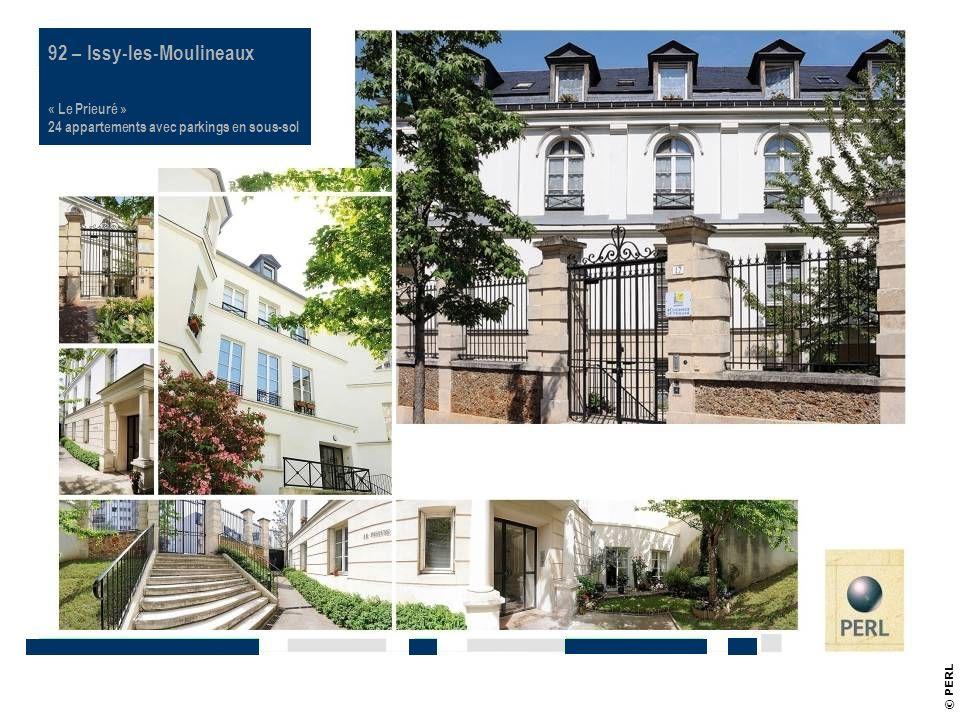 © PERL Référence PERL 92 – Issy-les-Moulineaux « Le Prieuré » 24 appartements avec parkings en sous-sol