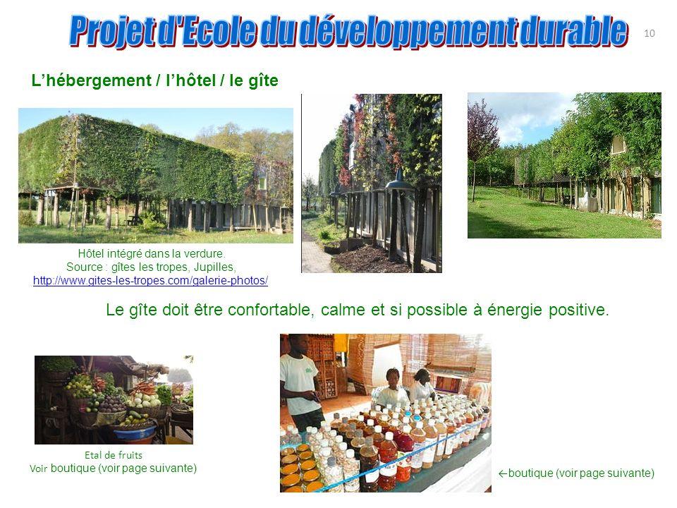 10 Lhébergement / lhôtel / le gîte Hôtel intégré dans la verdure. Source : gîtes les tropes, Jupilles, http://www.gites-les-tropes.com/galerie-photos/