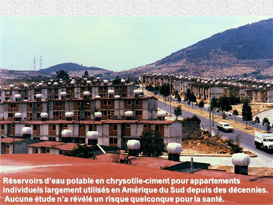 5 Réservoirs deau potable en chrysotile-ciment pour appartements individuels largement utilisés en Amérique du Sud depuis des décennies. Aucune étude