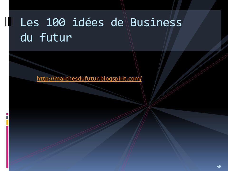 http://marchesdufutur.blogspirit.com/ 49 Les 100 idées de Business du futur