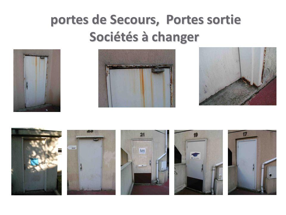 portes de Secours, Portes sortie Sociétés à changer portes de Secours, Portes sortie Sociétés à changer