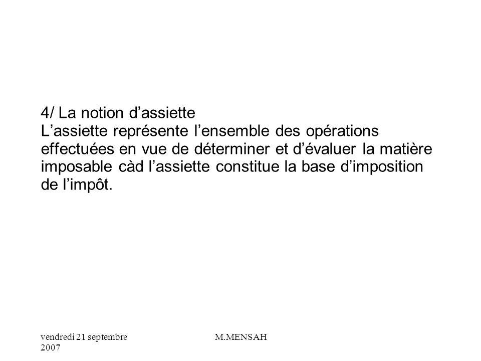 vendredi 21 septembre 2007 M.MENSAH 3/ La CRDS : contribution au remboursement de la dette sociale Crée le 24 janvier 1996, la CRDS, a pour but de dim