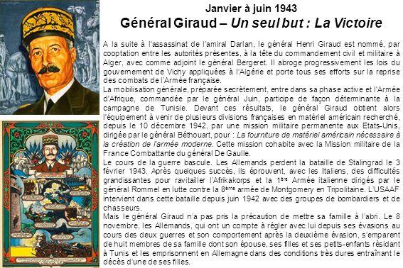 Organisation du commandement français le 1 er avril 1943
