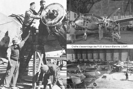Chaîne dassemblage des P-38 à Maison-Blanche (USAF)