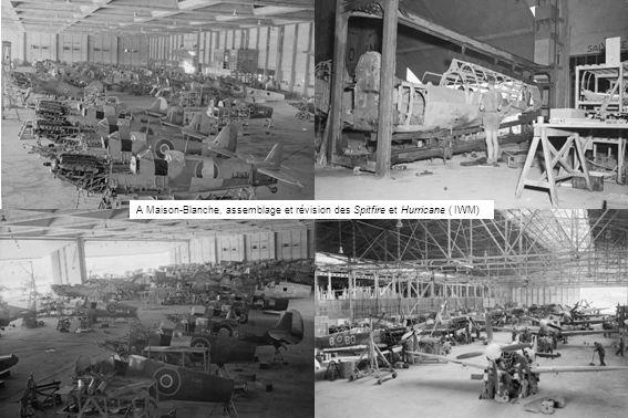 A Maison-Blanche, assemblage et révision des Spitfire et Hurricane ( IWM)