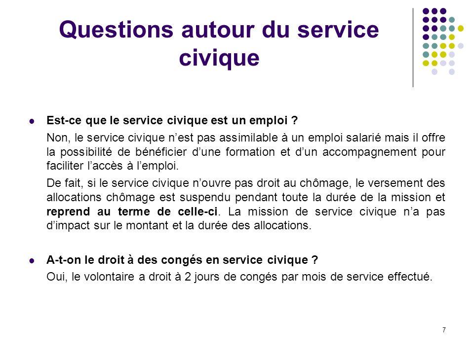 7 Questions autour du service civique Est-ce que le service civique est un emploi .