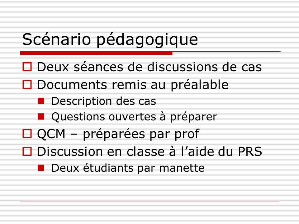 Plan Description du contexte Étudiants Cours et programme Intention pédagogique Scénario pédagogique Description du dispositif et lessai