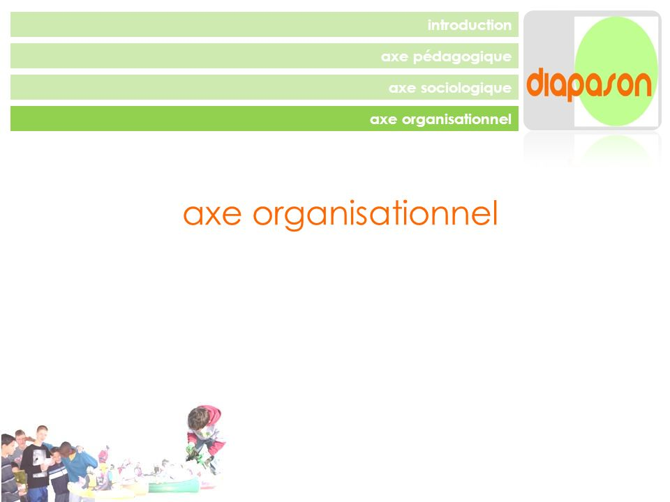 axe pédagogique axe sociologique axe organisationnel introduction axe organisationnel