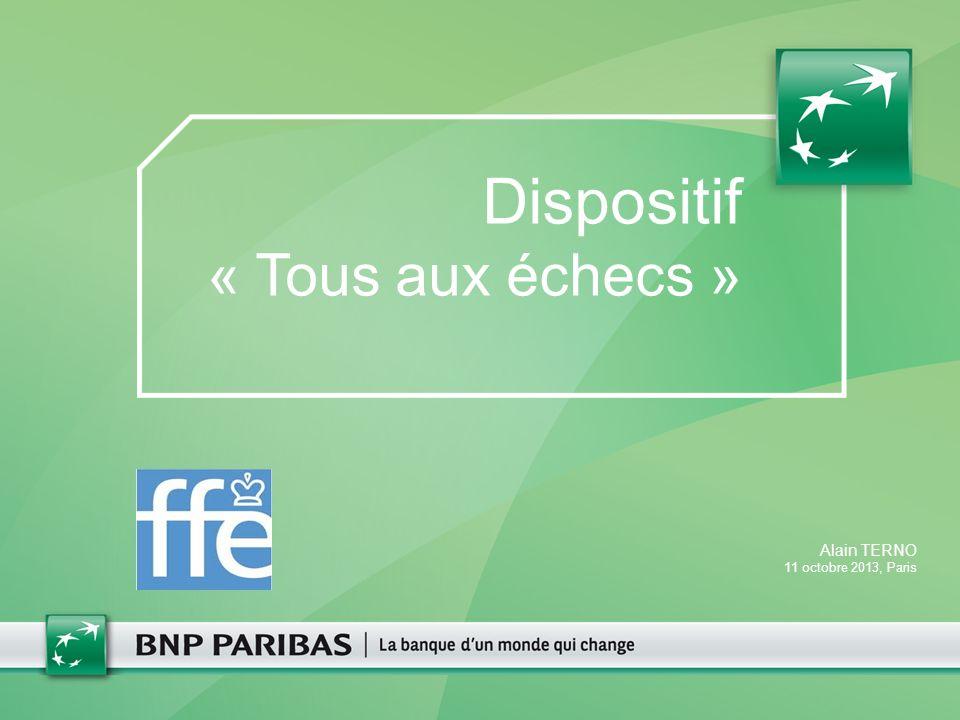 Dispositif « Tous aux échecs » Alain TERNO 11 octobre 2013, Paris