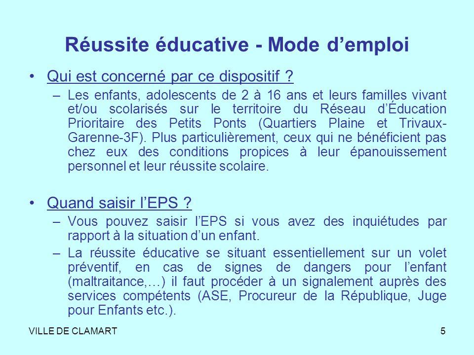 VILLE DE CLAMART6 Comment saisir lEPS .