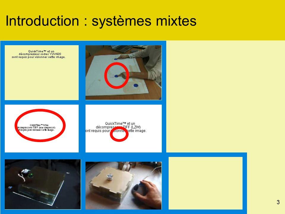 34 Interagir avec un objet mixte : Métaphores de nom langage dinteraction en entrée [x, y] caméravision proj.