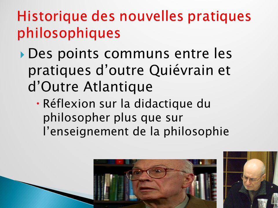 1.Historique Milieu des années 1960 avec M. Lipman aux USA et M. Tozzi en France