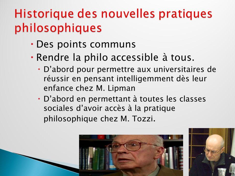 Des points communs entre les pratiques doutre Quiévrain et dOutre Atlantique Réflexion sur la didactique du philosopher plus que sur lenseignement de la philosophie