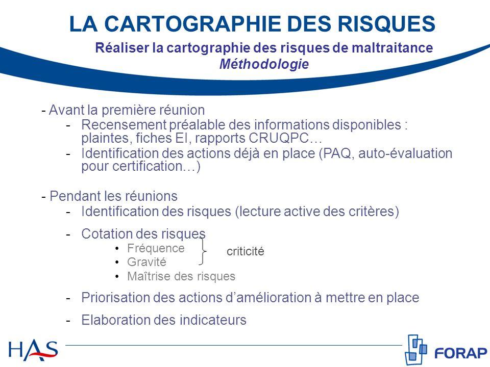 - Avant la première réunion -Recensement préalable des informations disponibles : plaintes, fiches EI, rapports CRUQPC… -Identification des actions dé