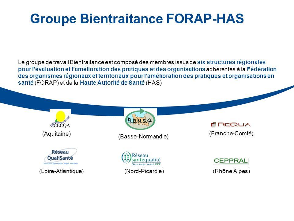 Groupe Bientraitance FORAP-HAS (Basse-Normandie) (Franche-Comté) (Loire-Atlantique) (Aquitaine) (Rhône Alpes) Le groupe de travail Bientraitance est c