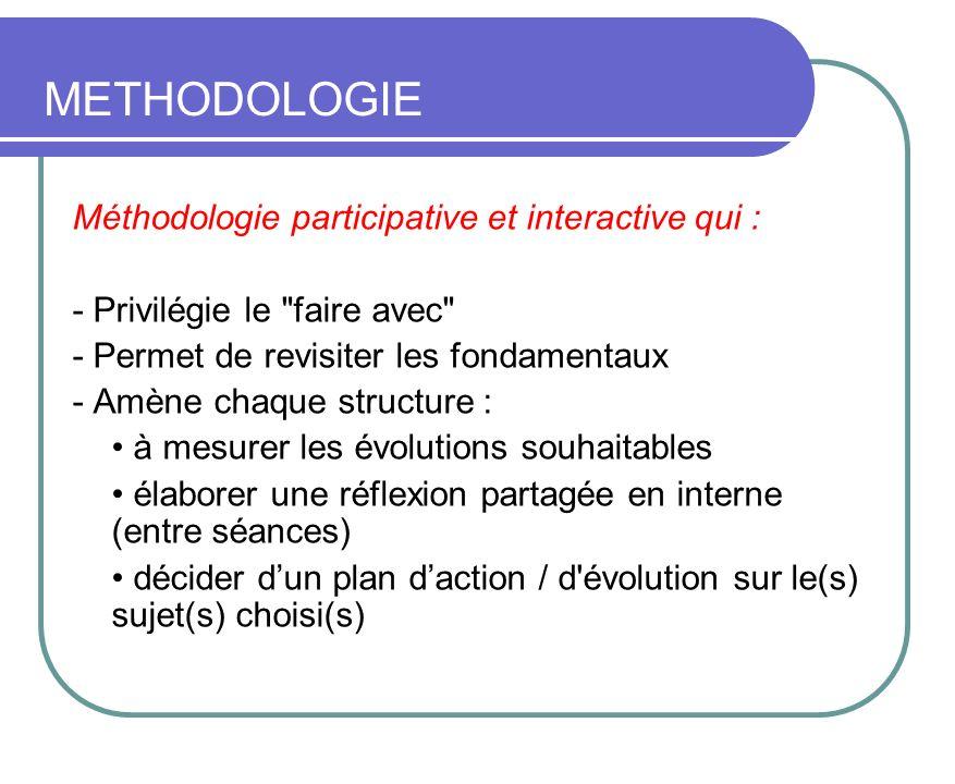 METHODOLOGIE Méthodologie participative et interactive qui : - Privilégie le