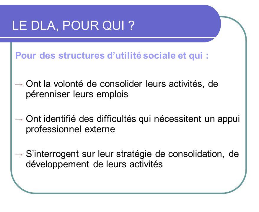 Pour des structures dutilité sociale et qui : Ont la volonté de consolider leurs activités, de pérenniser leurs emplois Ont identifié des difficultés