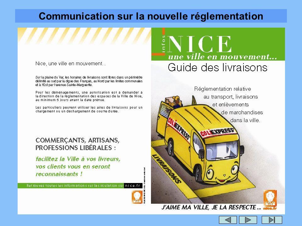 Communication sur la nouvelle réglementation