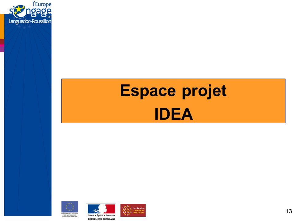 13 Espace projet IDEA