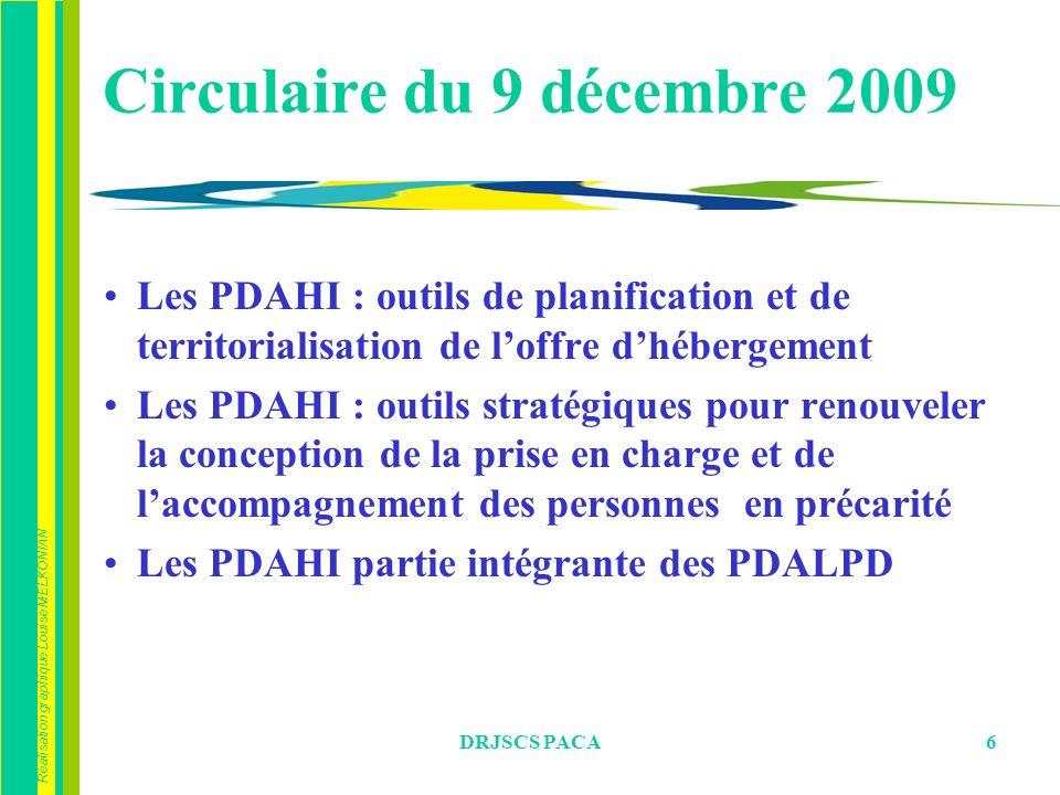 Réalisation graphique Louise MELKONIAN DRJSCS PACA6 Circulaire du 9 décembre 2009 Les PDAHI : outils de planification et de territorialisation de loff