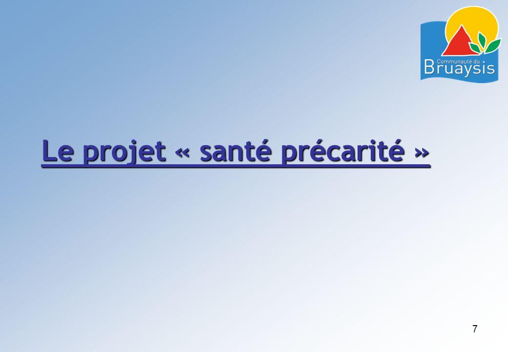 Le projet « santé précarité » 7