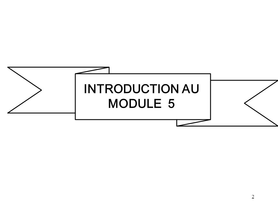 2 INTRODUCTION AU MODULE 5