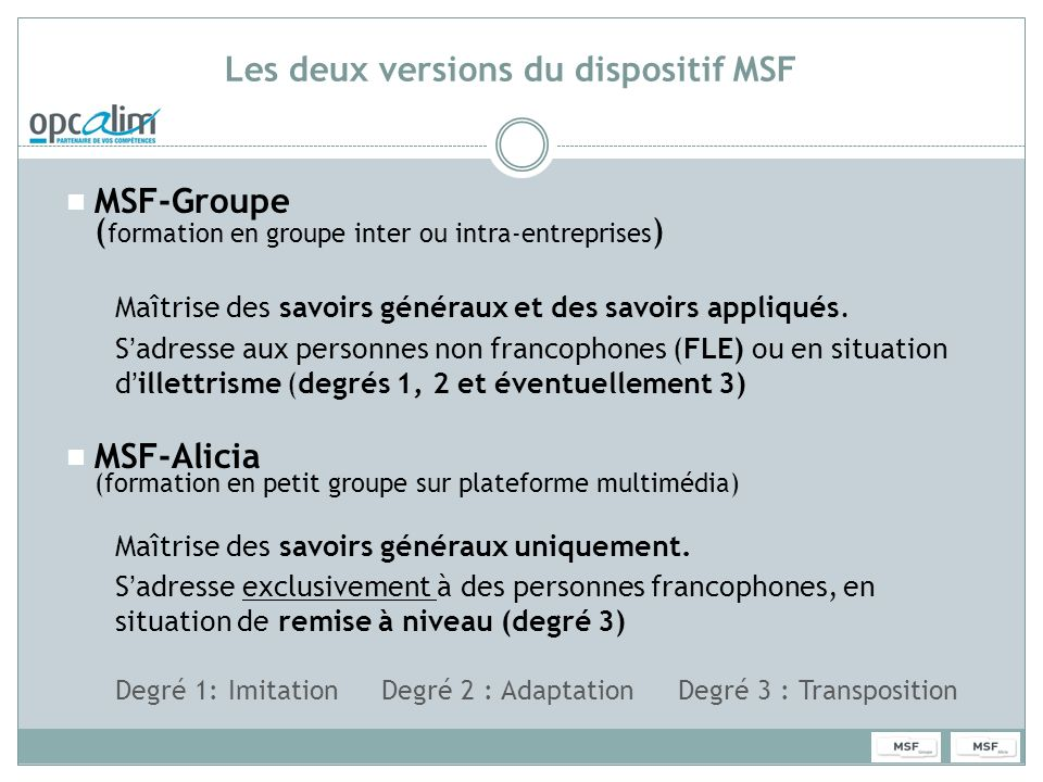 MSF Groupe
