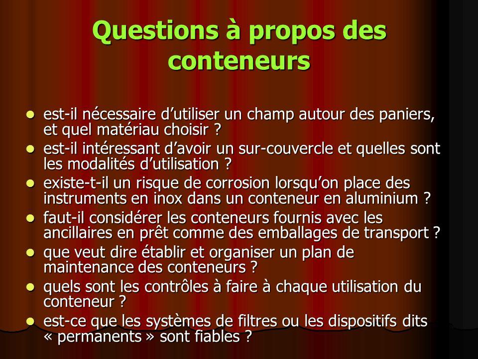 Questions à propos des conteneurs est-il nécessaire dutiliser un champ autour des paniers, et quel matériau choisir ? est-il nécessaire dutiliser un c